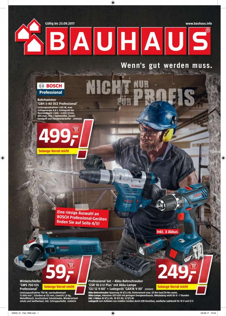 Bauhaus Prospekte gültig von 28.08.2017 bis 23.09.2017