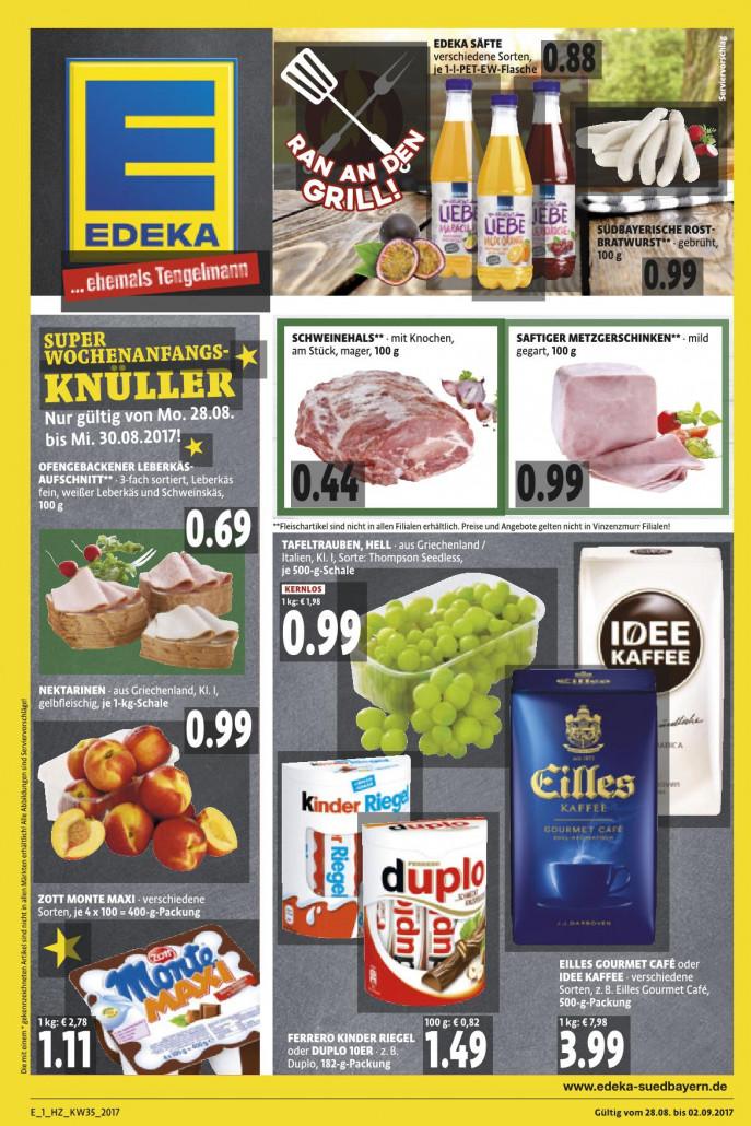 Edeka München - Angebote und Prospekte, gültig von 28.08.2017 bis 02.09.2017