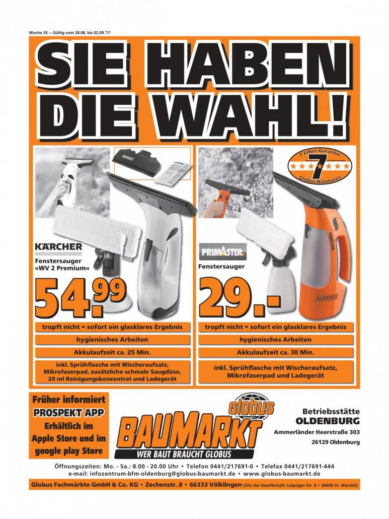 Globus Baumarkt Prospekte gültig von 28.08.2017 bis 02.09.2017