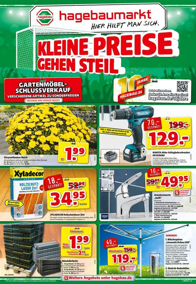 Hagebaumarkt Prospekte gültig von 05.08.2017 bis 15.08.2017