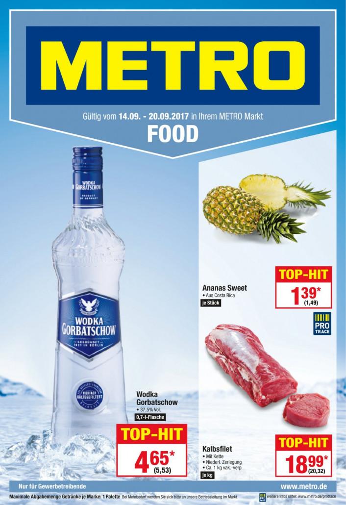Metro Prospekte Food gültig von 14.09.2017 bis 20.09.2017