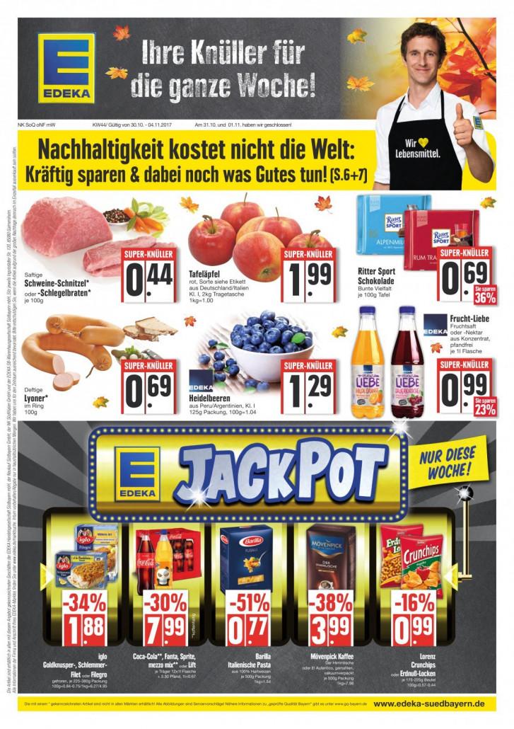 Edeka München - Angebote und Prospekte, gültig von 30.10.2017 bis 04.11.2017