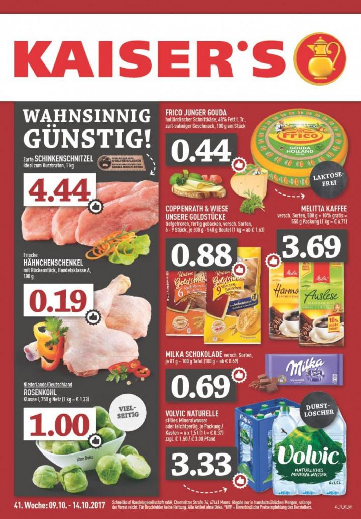 Kaiser's Tengelmann München - Angebote und Prospekte gültig von 09.10.2017 bis 14.10.2017