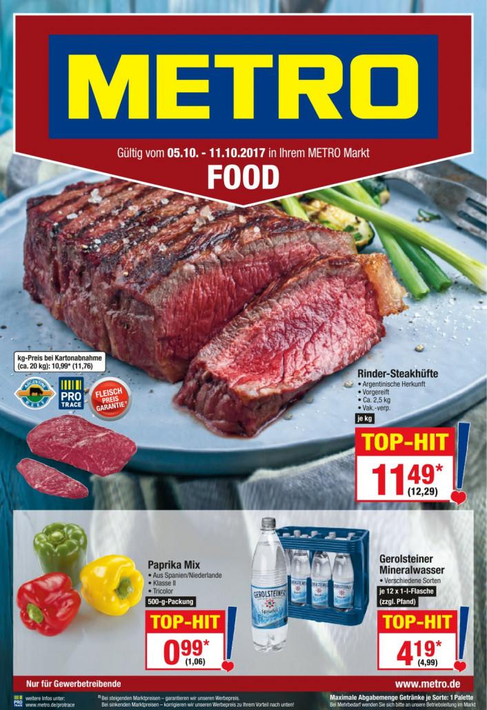Metro Prospekte Food gültig von 05.10.2017 bis 11.10.2017