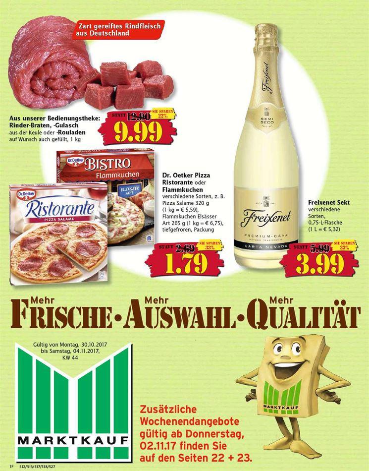 Marktkauf Prospekte - gültig von 30.10.2017 bis 04.11.2017