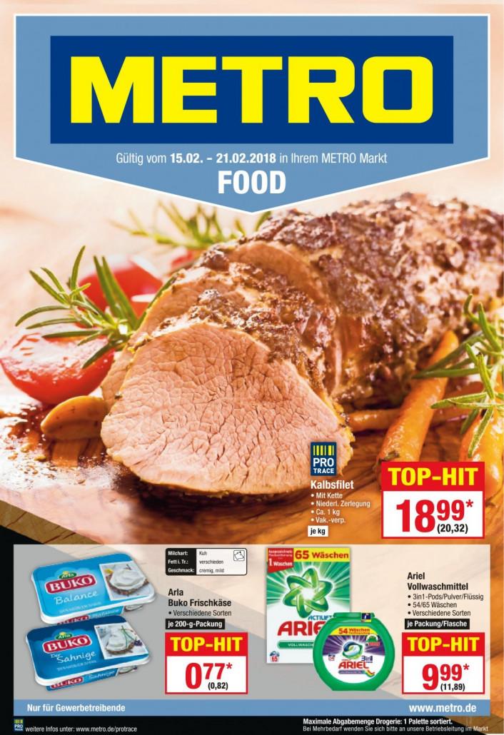 Metro Prospekte Food gültig von 15.02.2018 bis 21.02.2018