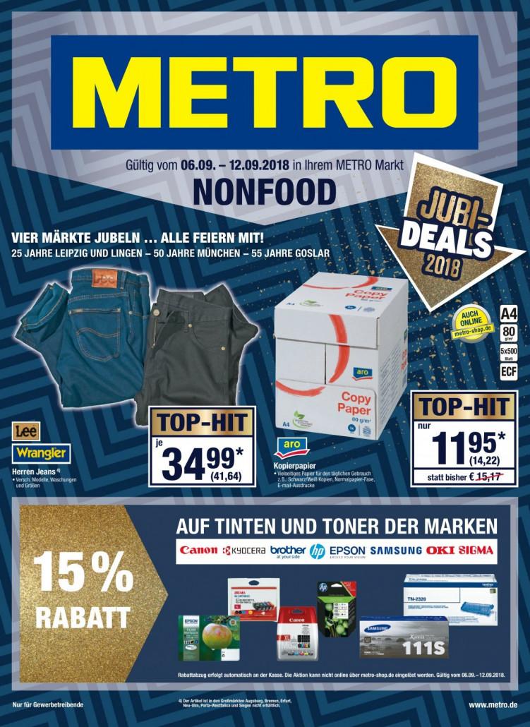 Metro Prospekte Non Food gültig von 06.09.2018 bis 12.09.2018