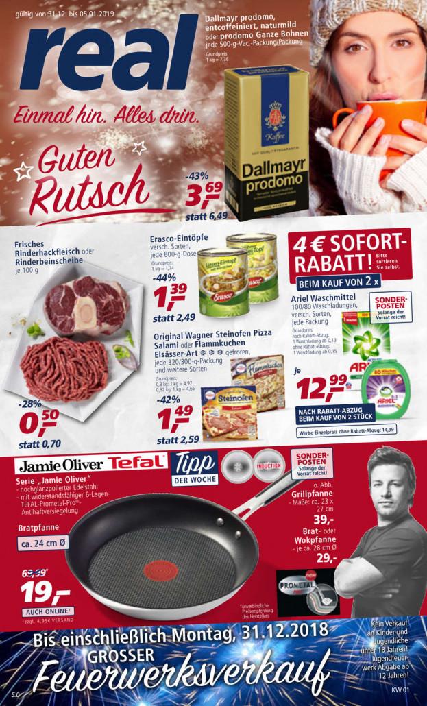 Real Prospekte 31.12.2018 - 05.01.2019 - Real Prospekt Woche 1