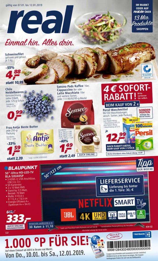 Real Prospekte 07.01.2019 - 12.01.2019 - Real Prospekt Woche 2