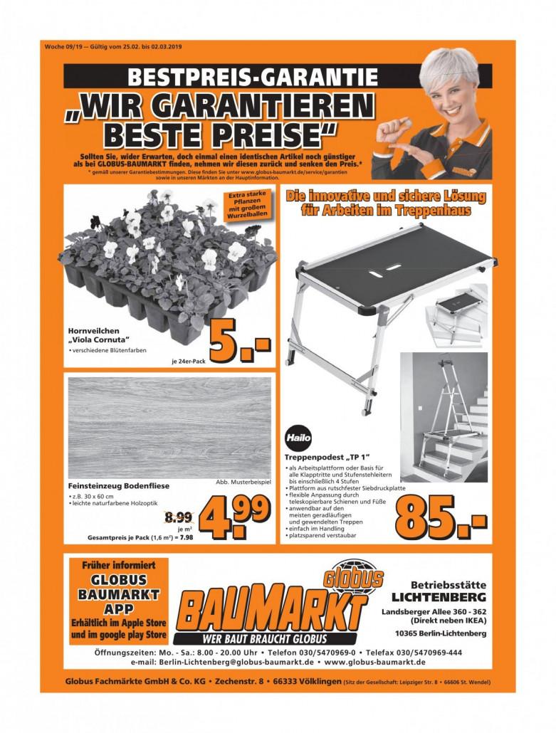 Globus Baumarkt Prospekte gültig von 25.02.2019 bis 02.03.2019