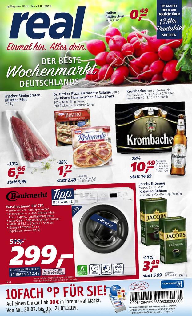 Real Prospekte 18.03.2019 - 23.03.2019 - Real Prospekt Woche 12