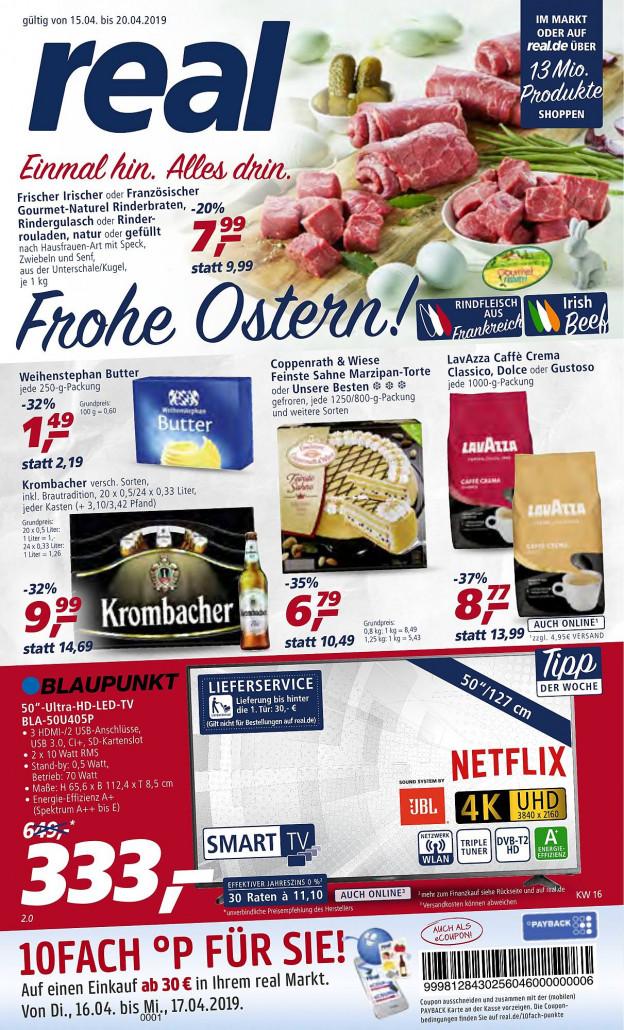 Real Prospekte 15.04.2019 - 20.04.2019 - Real Prospekt Woche 16