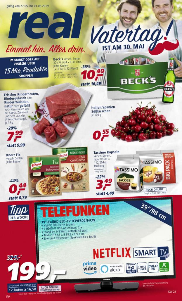 Real Prospekte 27.05.2019 - 01.06.2019 - Real Prospekt Woche 22