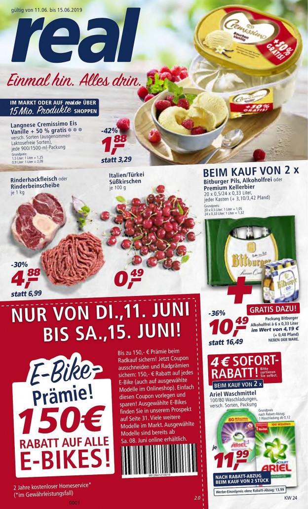 Real Prospekte 11.06.2019 - 15.06.2019 - Real Prospekt Woche 24