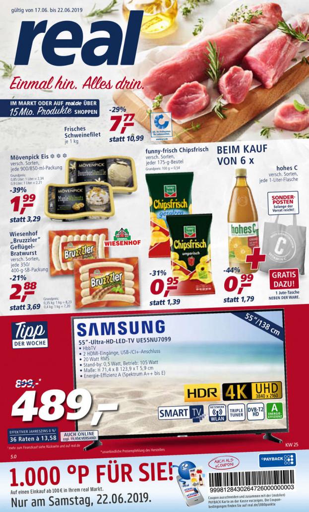 Real Prospekte 17.06.2019 - 22.06.2019 - Real Prospekt Woche 25