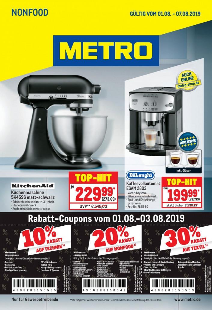 Metro Prospekte Non Food gültig von 01.08.2019 bis 07.08.2019
