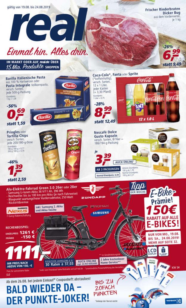 Real Prospekte 19.08.2019 - 24.08.2019 - Real Prospekt Woche 34