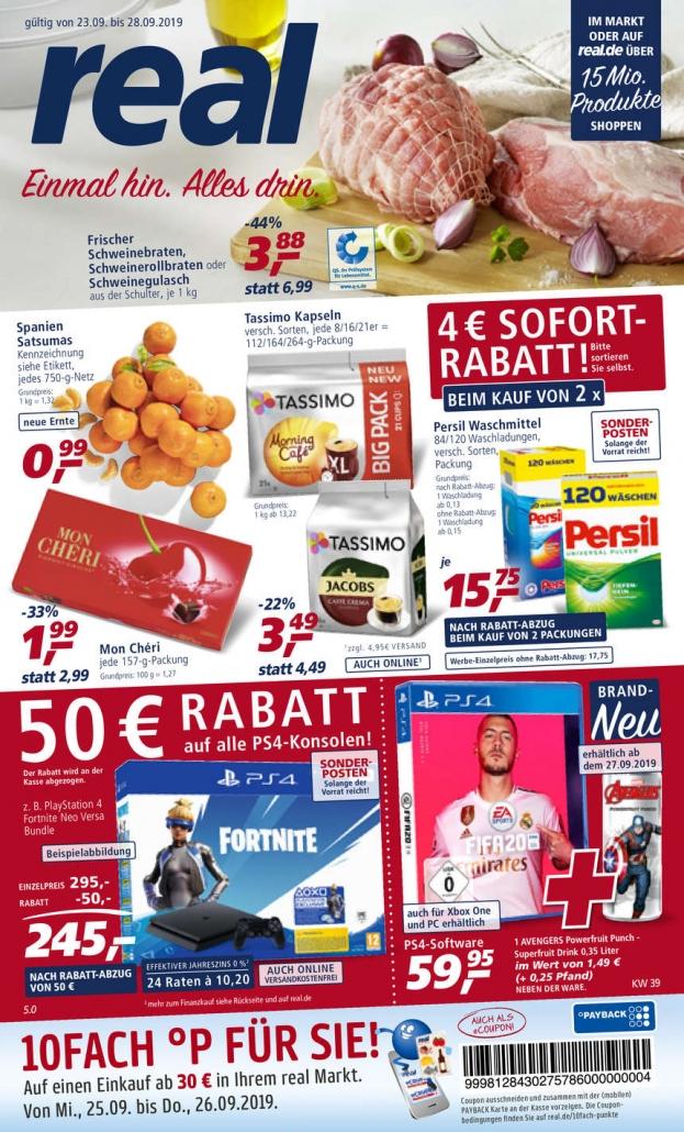 Real Prospekte 23.09.2019 - 28.09.2019 - Real Prospekt Woche 39