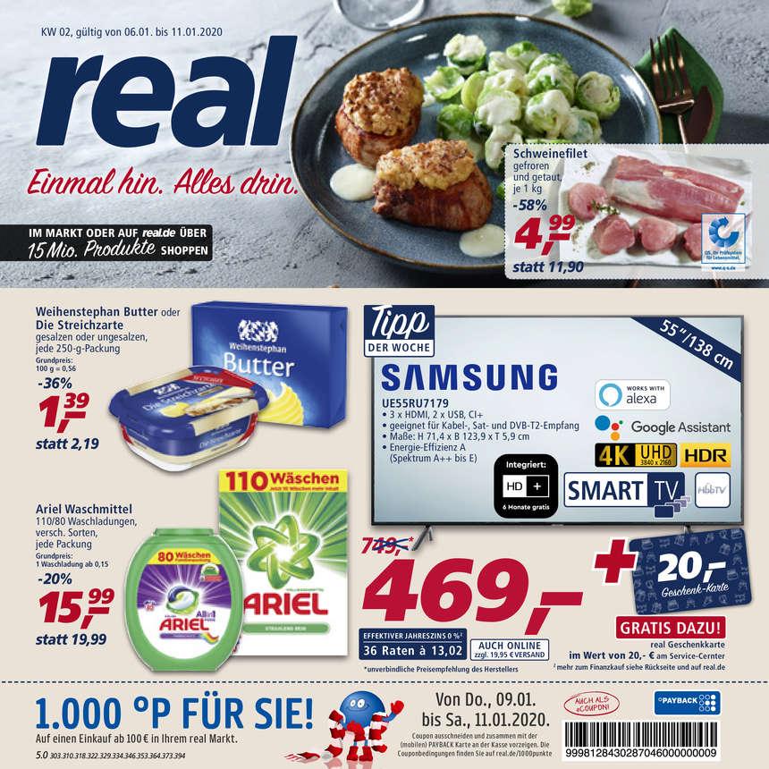 Real Prospekte 06.01.2020 - 11.01.2020 - Real Prospekt Woche 2