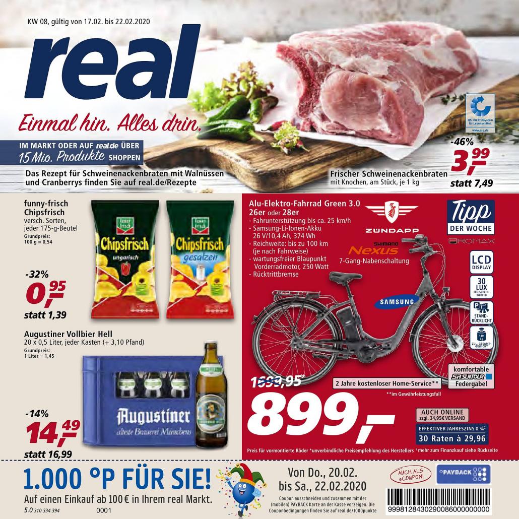 Real Prospekte 17.02.2020 - 22.02.2020 - Real Prospekt Woche 8