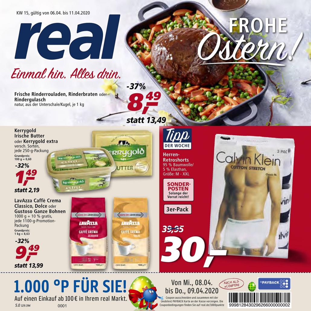 Real Prospekte 06.04.2020 - 11.04.2020 - Real Prospekt Woche 15