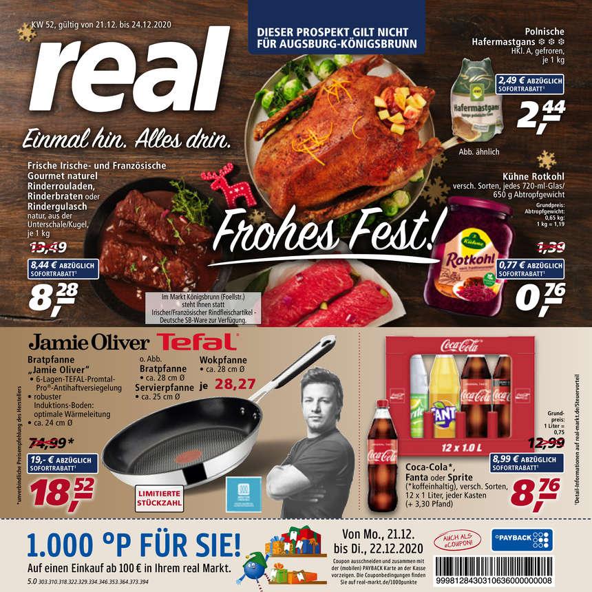 Real Prospekte 21.12.2020 - 24.12.2020 - Real Prospekt Woche 52